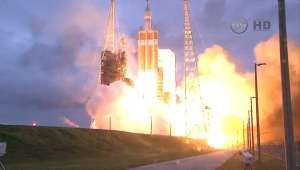 Picture of the Orion launch this morning.