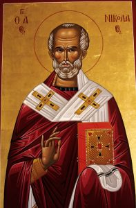 Artist' rendition of the Christian Bishop, Saint Nicholas