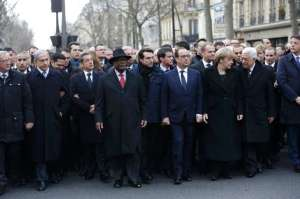 World leaders lead today's unity rally in Paris.